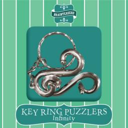 Brainteasers - Key ring Puzzle - Infinity (Difficult)