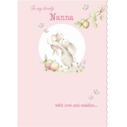 Family Circle Card - Bunny Hugs (Nanna)