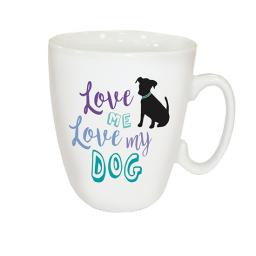 Curved Mug - Love Me Love My Dog