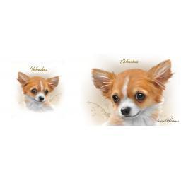 Straight Sided Mug - Chihuahua (Sepia)