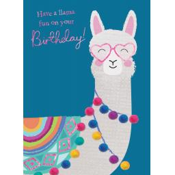 Pom Poms Card Collection - Llama Fun