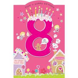 Cut 'N' Paste Card - Age 8 Sweets