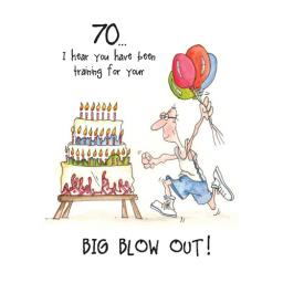 Camilla & Rose Card - 70th Big Blow Out