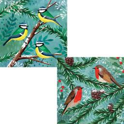 RSPB Luxury Christmas Card Pack - Winter Forest Birds