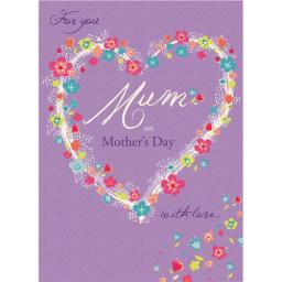 Mother's Day Card - Flower Heart