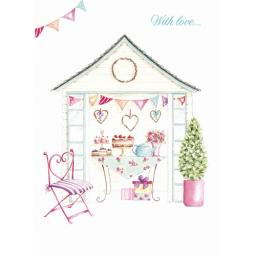 Teacups & Trinkets Card - Summer House