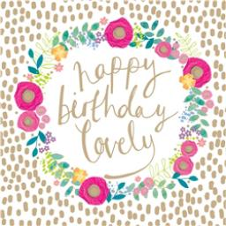 Rose Gold Card - Gold Birthday Wishes