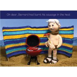 Nudinits Card - Burnt Sausage