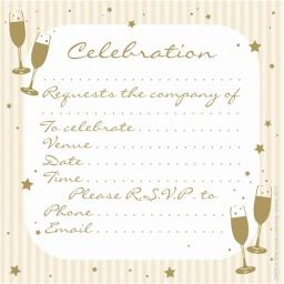Social Stationery - Celebration Invitations (Celebration)