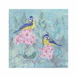 Enchanted Wildlife Card - Blue Tits