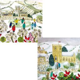 Luxury Christmas Card Pack - Traditional Village