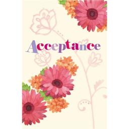 Wedding Acceptance Card - Floral