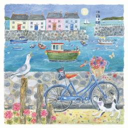 Seaside Charm Card - Seaside Bike Ride