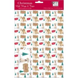 Christmas Wrap & Tags - Labradors In The Snow