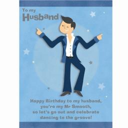 Family Circle Card - Mr Smooth (Husband)
