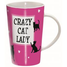 Latte Mug - Crazy Cat Lady