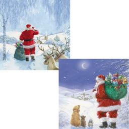 Luxury Christmas Card Pack - Santa's Journey