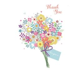 Thank You Card - Flower Bouquet