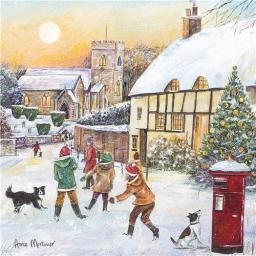 Charity Christmas Card Pack - Playing In The Snow