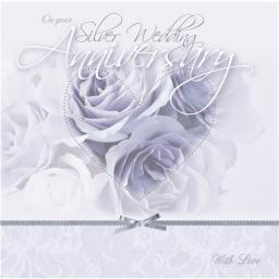 Anniversary Card - Purple Rose (Your Silver Anniversary)