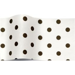 Tissue Pack - Black Dots On White