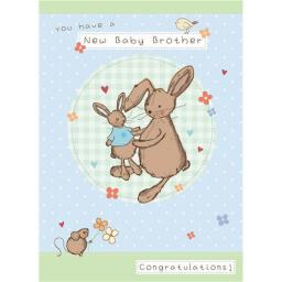 New Baby Card - Bunny (Baby Brother)