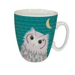 Curved Mug - Waggy Tails - Owl