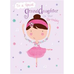Family Circle Card - Ballerina (Granddaughter)
