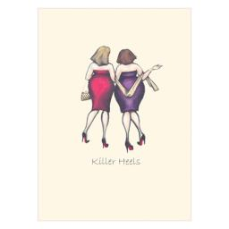 Ladies Who Lunch Stationery - 8-In Cello Notes (Killer Heels)