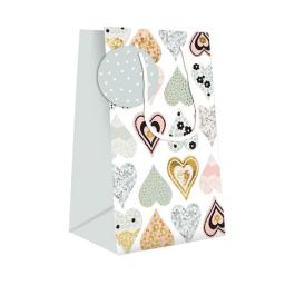 Gift Bag (Small) - Collage Hearts