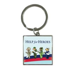 Help For Heroes Key Ring - Bears