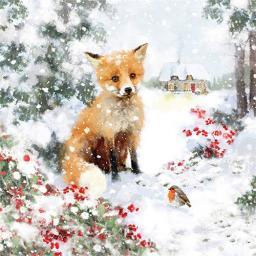Charity Christmas Card Pack - Festive Fox