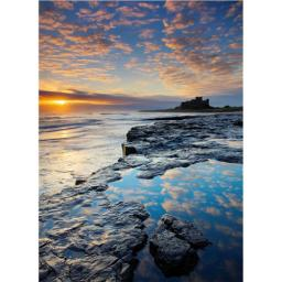 Perfectly Picturesque Card - Bamburgh Castle (Northumberland)