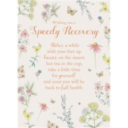Get Well Soon Card - Speedy Recovery