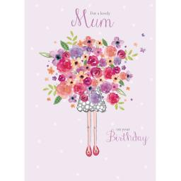 Family Circle Card - Birthday Flowers (Mum)