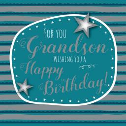 Family Circle Card - Birthday Text (Grandson)