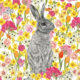 Easter Card Pack - Hare In Flowers