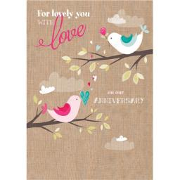 Anniversary Card - Two little Birds (Our)