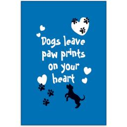 Fridge Magnet - Dogs Leave Paw Prints