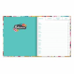 Bohemia Stationery - A5 Address Book - Flowers