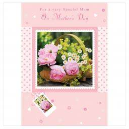 Mother's Day Card - Pink Flowers