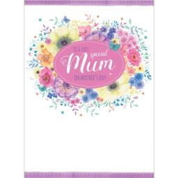 Mother's Day Card - Floral Wreath