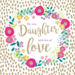 Family Circle Card - Floral Circle (Daughter)