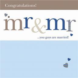 Wedding Card - Mr & Mr