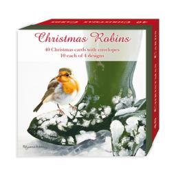 Assorted Christmas Cards - Christmas Robins