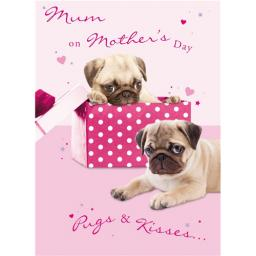 Mother's Day Card - Pugs & Kisses