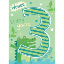 Magic Numbers Card - Snappy Birthday (Age 3)