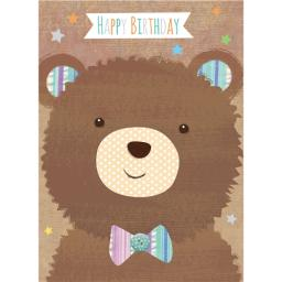 Hip Hip Hooray Card - Bobble The Bear