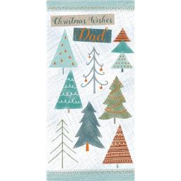 Christmas Card (Single) - Dad - Christmas Tress