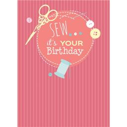 A Way With Words Card - Sew It's Your Birthday